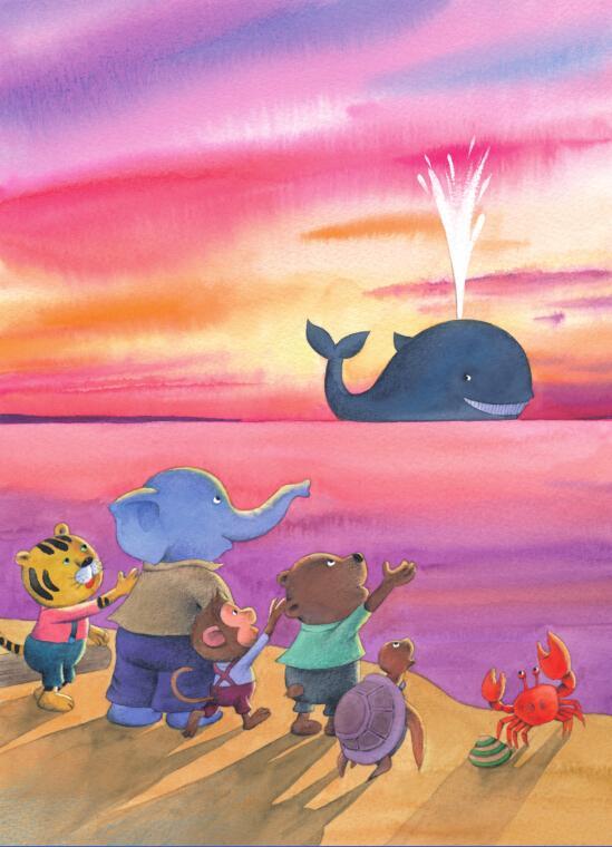 小学生关于海边风景的画