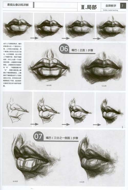 嘴型画法步骤