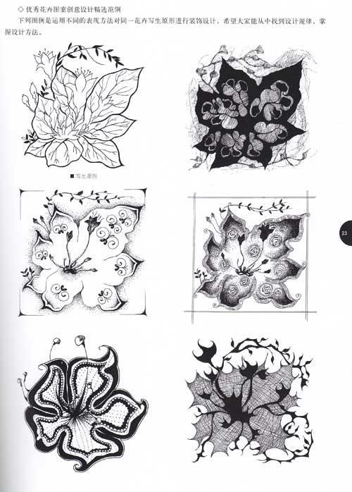 花卉对称纹样图案内容花卉对称纹样图案版面设计