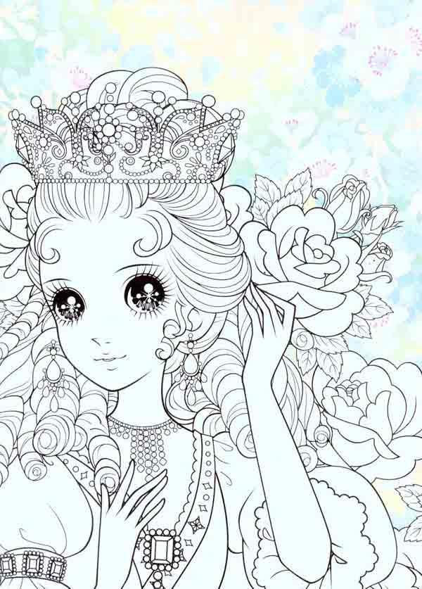 手绘动漫少女公主铅笔