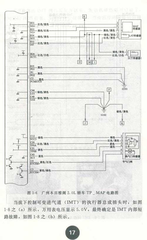 3广州本田雅阁轿车启动困难——egr电磁阀所