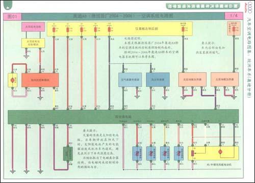 欧洲车系 (奥迪分册)   前言 序汽车空调电路图-常用符号说明 图01