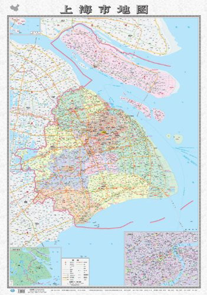 上海市地图(新版)