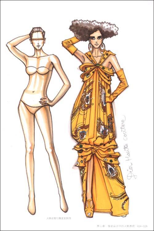 第一章服装设计快速表现概论 第二章服装设计中的人物