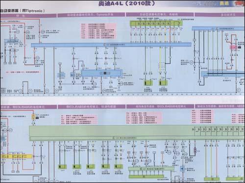 奥迪a6空调控制电路图