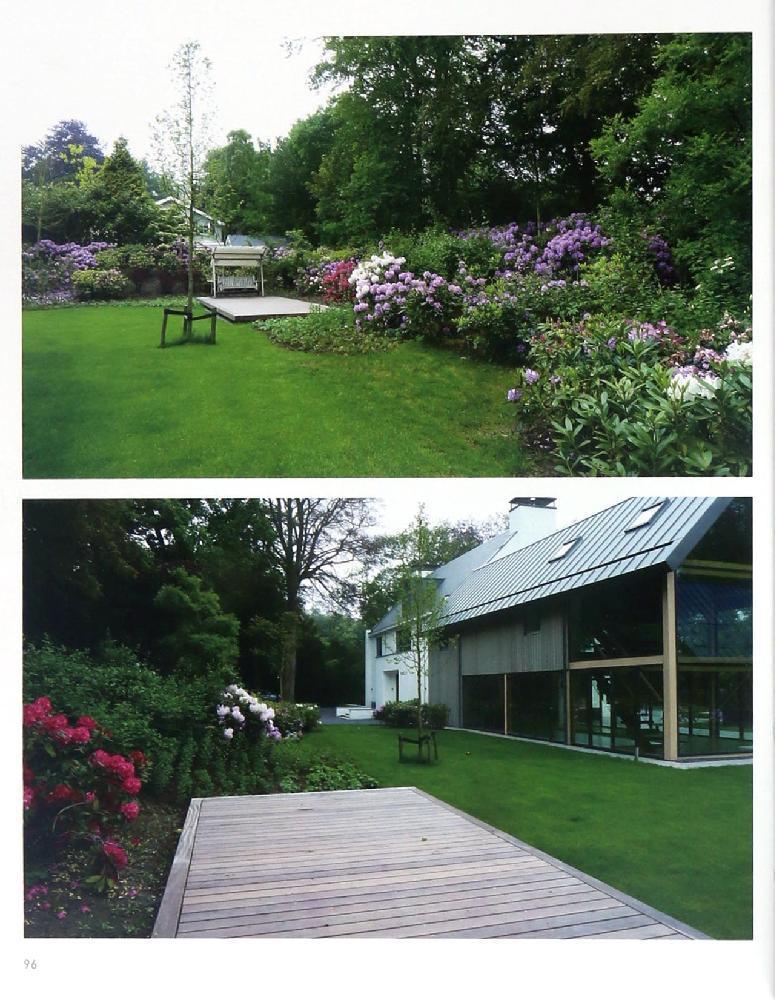 小面积庭院  有枯山水的石与杂木之庭  禅院  时尚石制平台庭院图片