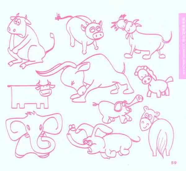 简笔画是用点,线,面等符号来表现物象基本特征