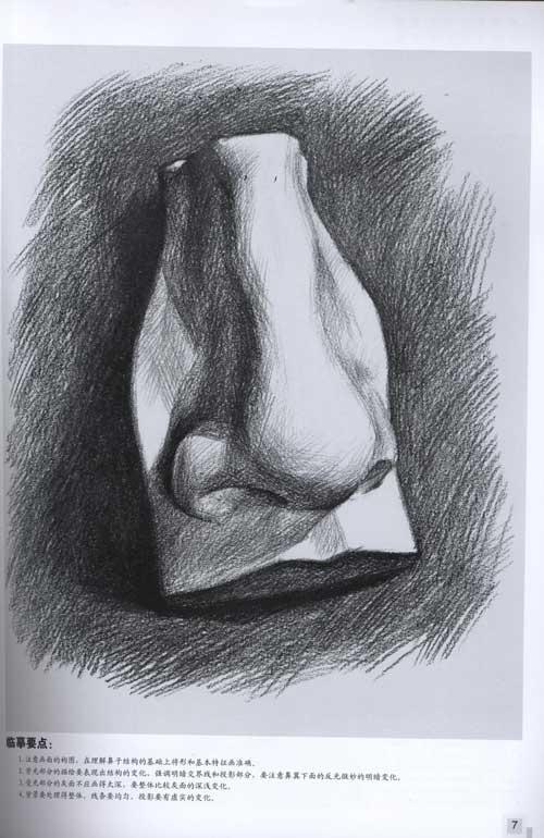 基础美术训练教材——素描石膏五官临本
