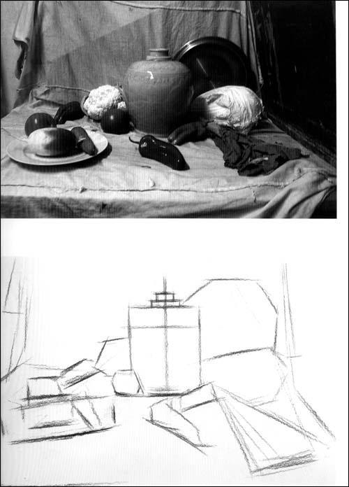 而素描静物就是静物画里最为基础的,起基石作用和研究作用手段