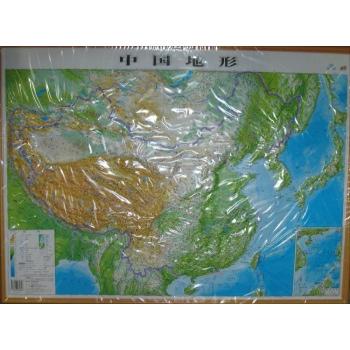 中国地形-无-地图-文轩网
