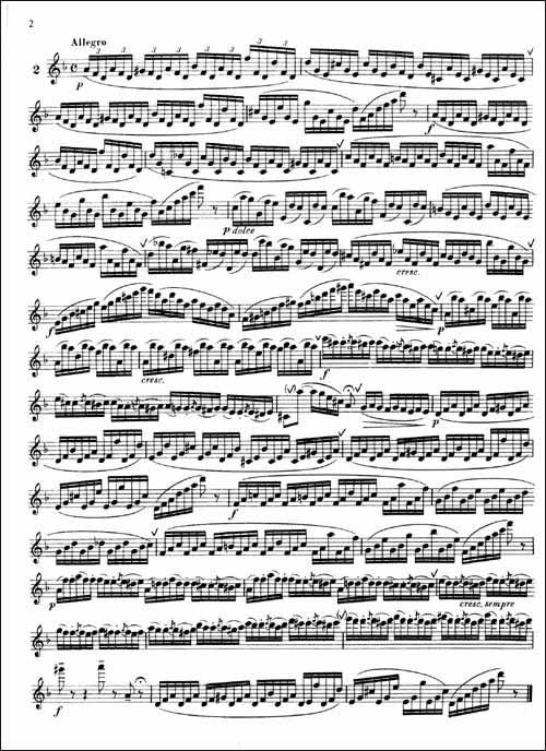 长笛练习曲简谱
