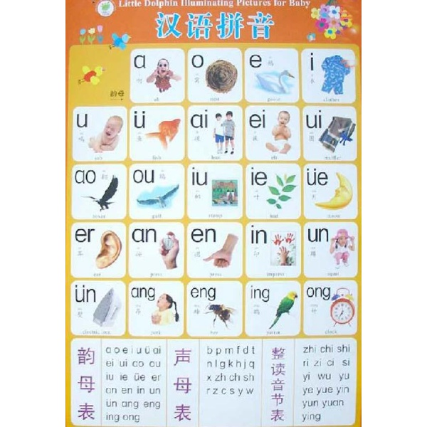 小海豚幼儿启蒙挂图:汉语拼音--幼儿启蒙-文轩网