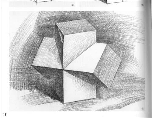 素描几何体·单个渝组合临摹-朱平;朱平-技法教程