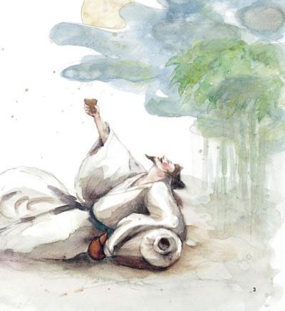 李白素描头像系列组图