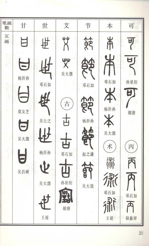 友的笔画顺序-常用篆书书法字典