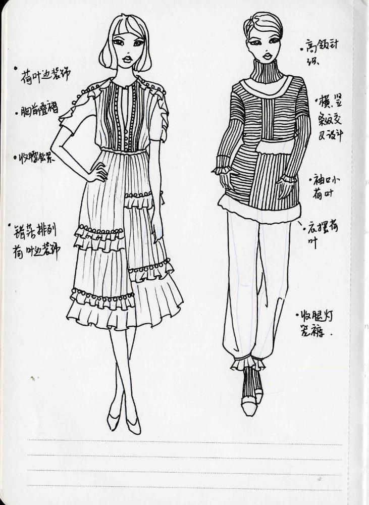 服装设计师实用人体模板:服装设计师推荐速写本与工作