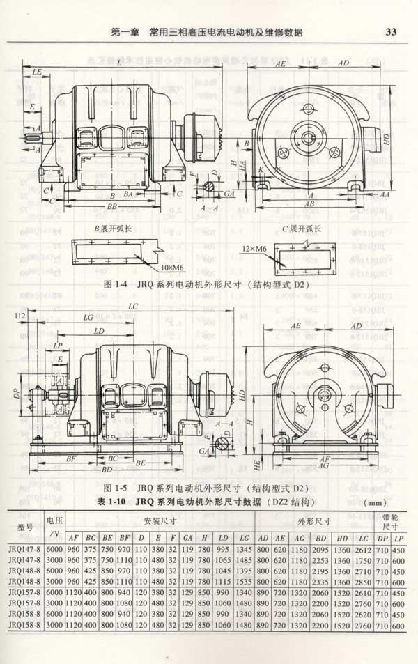 《三相高压交流电动机修理(电动机》